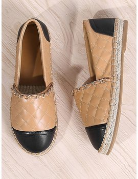 Chain Decorated Espadrille Flats by Sheinside