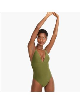 Deep V Neck French One Piece Swimsuit by J.Crew