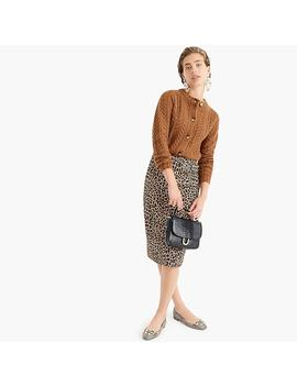 Tall No. 2 Pencil Skirt In Two Way Stretch Leopard Print by J.Crew