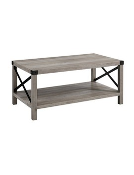 "40"" Metal X Coffee Table   Saracina Home by Saracina Home"