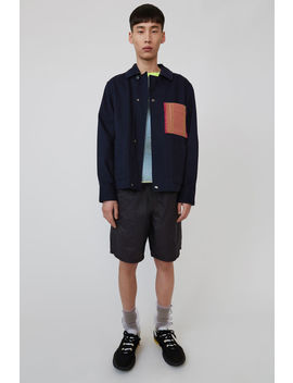 Contrasting Pocket Jacket  Navy Blue by Acne Studios