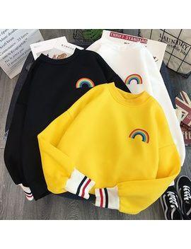 Felicitas   Rainbow Print Sweatshirt by Felicitas