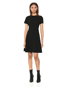 Theory Women's Short Sleeve Modern Seamed Shift by Theory