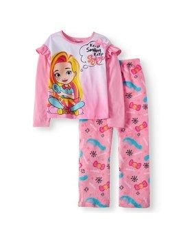 Sunny Day Girls' Poly 2 Piece Pajama Sleep Set by Sunny Day