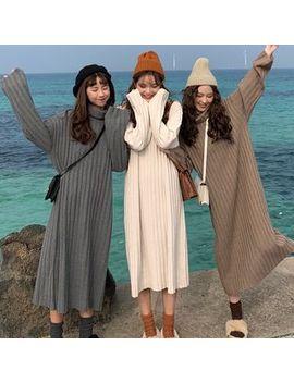 Shopherd   Turtleneck Midi Sweater Dress by Shopherd