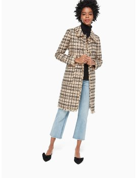 Bi Color Tweed Coat by Kate Spade