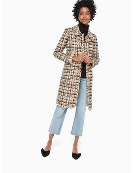Bi Color Tweed Coat by Kate Spade