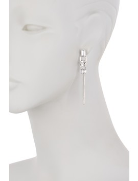 Faceted Crystal Linear Tassel Earrings by Vince Camuto