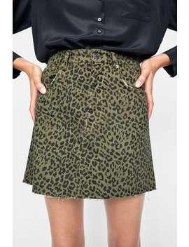 Mini Skirt Zw Premium Leopard Print  Skirtswoman Sale by Zara