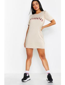 Calabasas Slogan T Shirt Dress by Boohoo