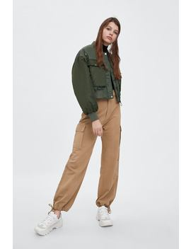 Wide  Leg Cargo Trousersnew In Trf New Collection by Zara