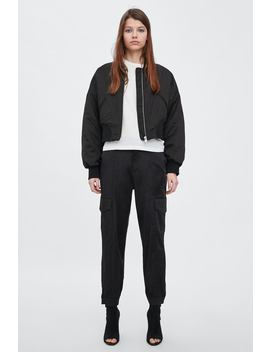 Glossy Cargo Trousers  New Intrf New Collection by Zara