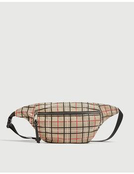 Check Print Belt Bag by Pull & Bear