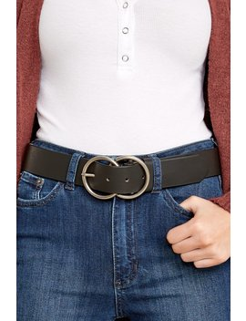 No Distractions Black Vegan Leather Belt by Joia