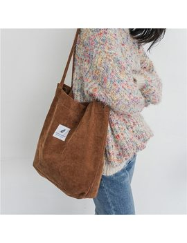 Solid Canvas Shoulder Bags Environmental Shopping Bag Tote Package Crossbody Bags Purses Casual Handbag For Women by Daman