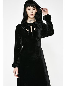 Sofia Velvet Hooded Dress by Necessary Evil