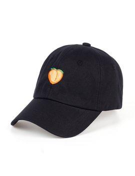 Voron 2017   Pure Color Cotton Cap Peach Embroidery Baseball Cap Fashion Men And Women Adjustable Adult Sunscreen Hip Hop Hat by Voron