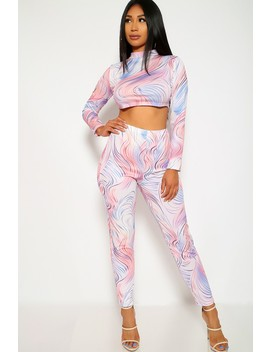 Sexy Peach Lavender Two Piece Long Sleeves Casual Outfit by Ami Clubwear