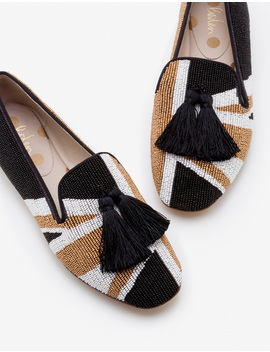 Evelina Beaded Slippers by Boden