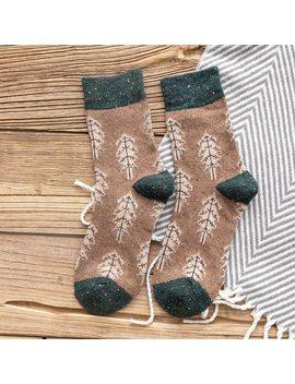 Jeseca 2018 Sales Hot Autumn Women Fashion Retro Socks Winter Warm Wool Sock Harajuku Female Cute Thickening Sox Gifts For Girls by Jeseca