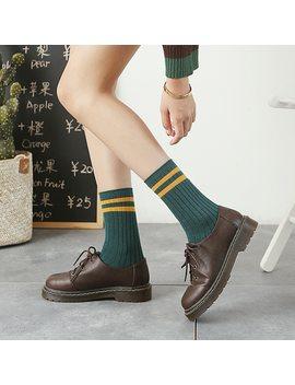 Jeseca 2018 Autumn Fashion Women Socks Winter Warm Retro Sock Stripe Vintage Cotton Soft Christmas Sox For Girls Gifts 10 Colors by Jeseca