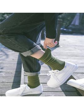 2018 New Fashion Women Socks Striped Cotton Socks Lady Retro Socks For Spring Autumn Winter  by Ali Express