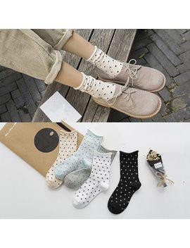 Jeseca New Fashion Women Socks Cute Dot Female Warm Winter Autumn Cotton Socks Soft Warm Sox by Jeseca