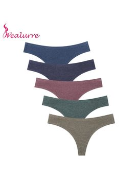 Wealurre Ladies Sexi Low Waist Tanga Female Invisible Underwear Womens Seamless Panties Thong Cotton Briefs G String Lingerie by Wealurre