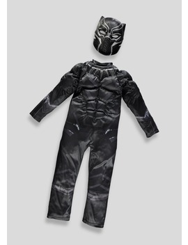 Kids Avengers Black Panther Fancy Dress Costume (3 9yrs) by Matalan