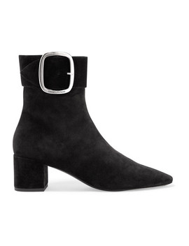Joplin Ankle Boots Aus Veloursleder by Saint Laurent