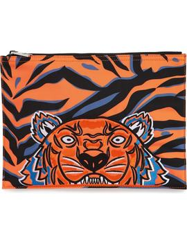 A4 Tiger Graphic Pouch by Kenzo