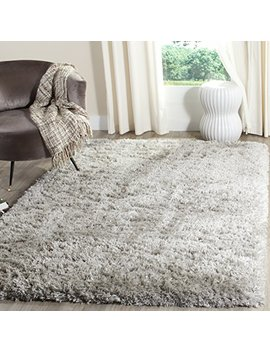 Safavieh Polar Shag Collection Psg800 D Silver Area Rug, 3' X 5' by Safavieh