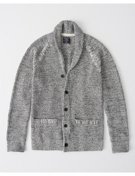 Waffle Shawl Cardigan by Abercrombie & Fitch