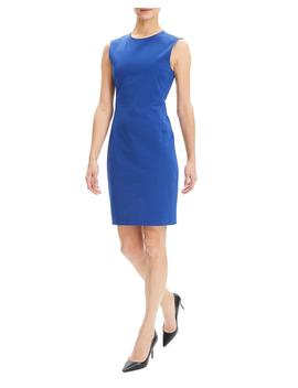 Crewneck Sleeveless Fitted Double Stretch Dress by Theory