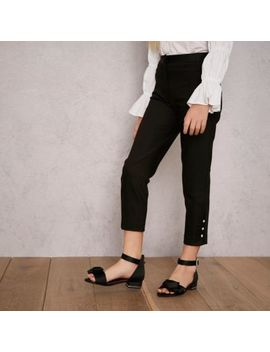Girls Black Ri Studio Tapered Trousers by River Island