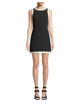 Truly Banded Neck Fitted Dress by Alice + Olivia