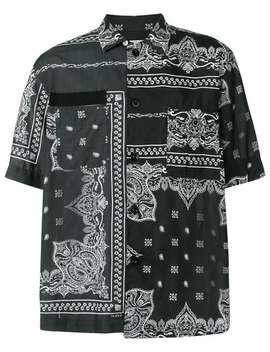 Bandana Print Half Sleeve T Shirt by Sacai