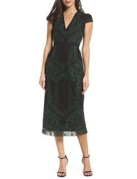 Remmy Embroidered Midi Dress by Foxiedox