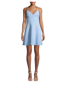 Austin Sleeveless V Neck Short Dress by Likely