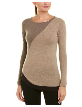 Kier + J Womens  Cashmere Sweater, S, Brown by Kier + J