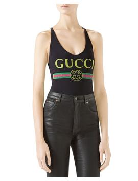 Gucci Print Sparkling Lycra® Bodysuit by Gucci