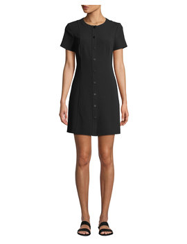 Easy Snap Front Shift Dress by Theory