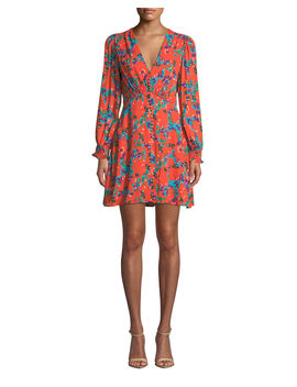 Eve Printed Long Sleeve Mini Dress by Saloni