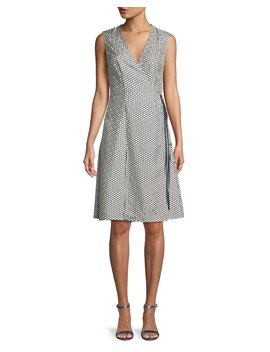 Sleeveless Silk Side Tie Flare Dress by Diane Von Furstenberg