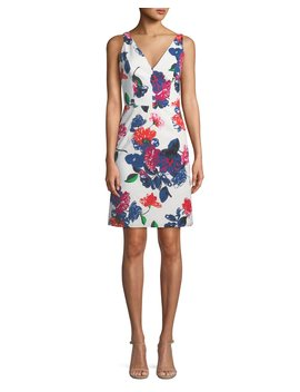 Sandrine Floral Print Mini Dress by Milly