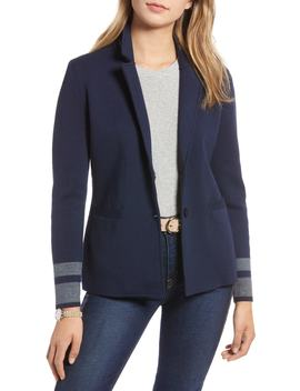 Stretch Wool Blend Sweater Blazer (Regular & Petite) by 1901