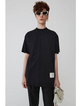 Mock Neck T Shirt Black by Acne Studios