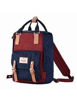 "Himawari Doughut Backpack Laptop Backpack College Backpack School Bag 14.9"" Travel Backpack For Women,Fits 13 Inch Laptop (Dark Red&Dark Blue) by Himawari"