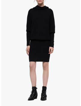 All Saints Ridley Dress, Cinder Black Marl by All Saints