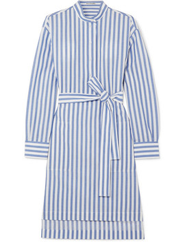 Striped Belted Cotton Poplin Dress by Acne Studios